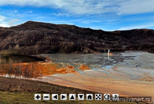 Panorama Sferica: Iazul de decantare din Valea Sesii – Geamana