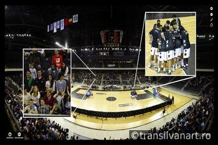 Gigapanorama de 3.44 gigapixeli si time lapse in timpul primului eveniment sportiv din Sala Polivalenta din Cluj