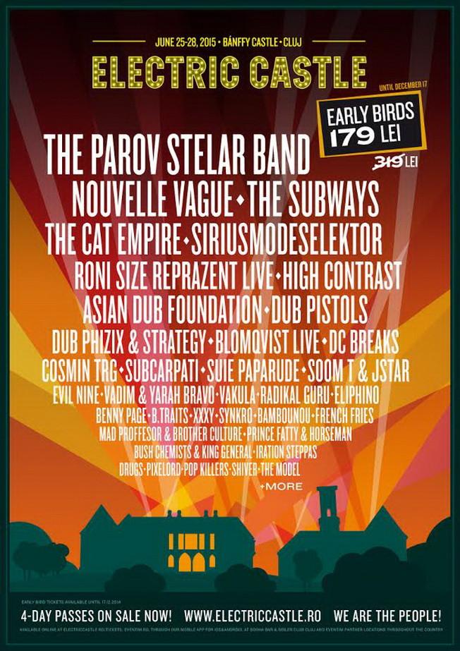 Electric Castle 2015 – 18 artisti noi