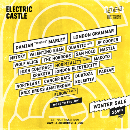 First names for Electric Castle 2018