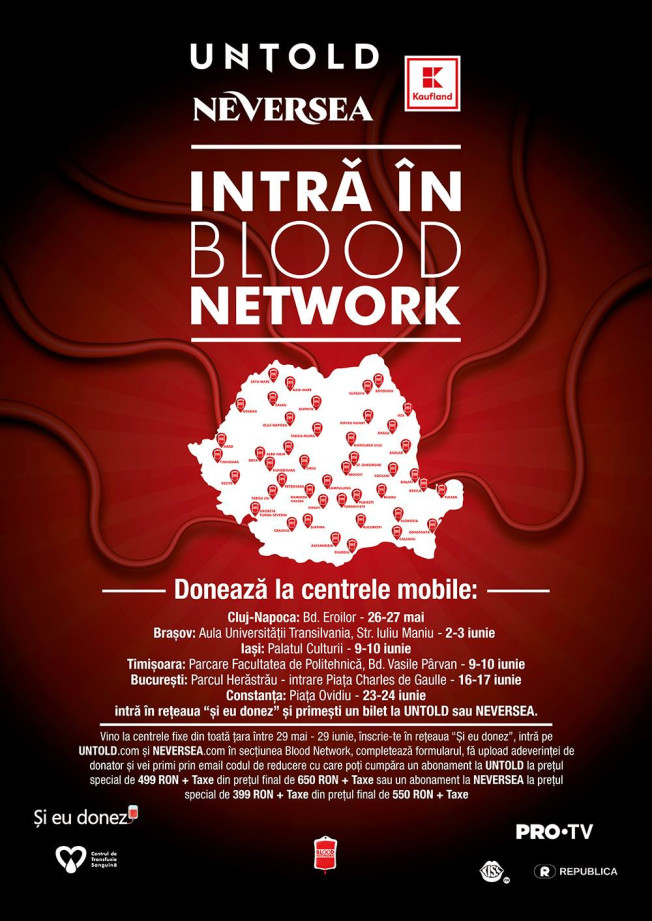 ÎNCEPE CAMPANIA DE DONARE DE SÂNGE, BLOOD NETWORK!