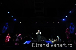 Pink Martini band performs live on the stage