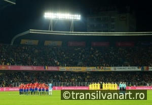 Moment of silence for the memory of Johan Cruyff before match