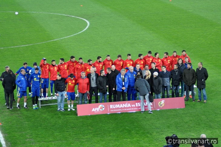 National football team of Spain during a photo session in the st