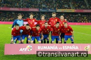 National Football Team of Spain pose for a group photo