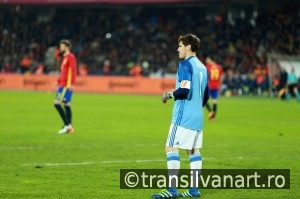 Iker Casillas, the goalkeeper of Spain during a match