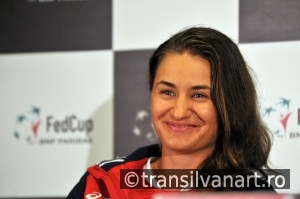 Romanian tennis player Monica Niculescu during a press conferenc