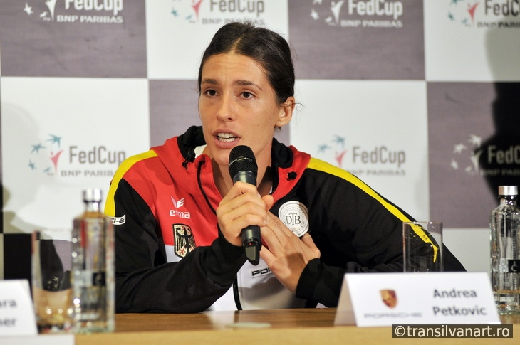 Tennis player Andrea Petkovic during a press conference