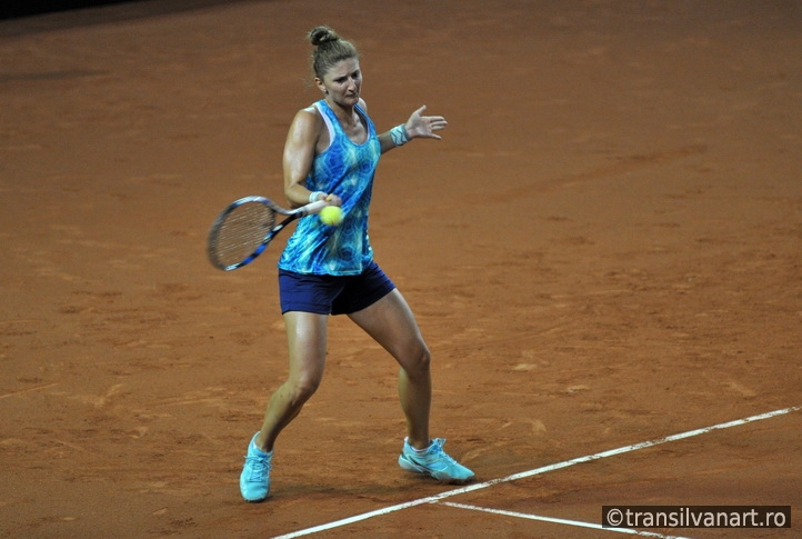 Tennis player Irina Begu training before a match