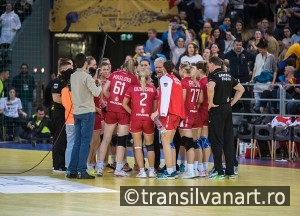 Handball players time out moment